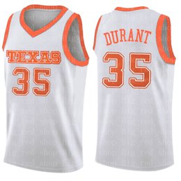 6939a6dfd33 Stephen 30 Curry Mens Kevin 35 Durant jersey NCAA University Red White  College Basketball Wears Cheap