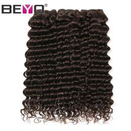 $enCountryForm.capitalKeyWord Australia - Brazilian Deep Wave Curly Virgin Human Hair Weave Bundles Dark Brown Color 3 Bundle Deals 10-26 Inch Remy Hair Extension Beyo