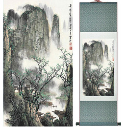 $enCountryForm.capitalKeyWord NZ - Mountain And River Painting Chinese Scroll Painting Landscape Art Painting Home Decoration Picture 041716