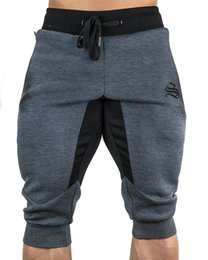 Wholesale mens gym hot pants for sale – dress Designer Summer Brand Mens Jogger Sporting Thin Shorts Men Black Bodybuilding Short Pants Male Fitness Gyms Shorts For Workout Hot Sale