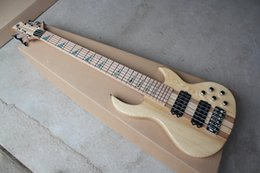 Abalone Inlay Guitar Neck Australia - Factory Custom 6-String Electric Bass Guitar with abalone Fret Inlay,Chrome Hardwares,Maple Fingerboard,Neck-Thru-Body,Offer Customized