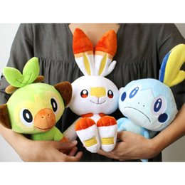 Discount elf soft toy Sobble Scorbunny Grookey Cartoon Elf Figure Plush Soft Stuffed Collection Toys for Children Christmas Gift