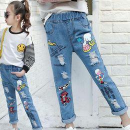 $enCountryForm.capitalKeyWord Australia - 2019 Toddler Girls Denim Pants Elastic Waist Baby Girls Fashion Jeans Cartoon Infant Clothing Cute Baby Girl Jeans For Children