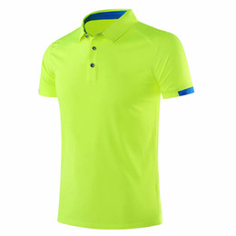 China 2019 New Men golf shirts Outdoor Sportswear Short sleeve women golf polos shirt Badminton Running Soccer Jerseys GYM Shirts supplier soccer jersey outdoors suppliers