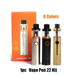 $enCountryForm.capitalKeyWord Australia - VAPE PEN 22 Kit With Built-in 1650mah Battery One Button Design Two Air Slots Micro-USB Port Vape Pen 22 Kit