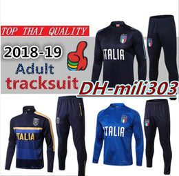 7f18a225d Top quality 18 19 ItALY Soccer training suit Survetement 2018 2019 Italy  PIRLO DE ROSSI INSIGNE CHIELLINI football jacket tracksuit Sweater