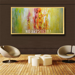 $enCountryForm.capitalKeyWord Australia - Large Size Hand Painted Palette Knife Tower Oil Paintings On Canvas Modern Abstract Wall Art Pictures For Living Room Home Decor