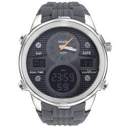 2019 новый спортивный водонепроницаемый двойной дисплей мужские часы многофункциональный сплав электронные часы на Распродаже