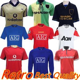 a69f22e34d0 1993 1994 1998 2006 2007 2008 2010 2011 2013 Retro Version MAN Soccer Jerseys  UCL Vintage Classic Football Shirts United Beckham Ronaldo UTD