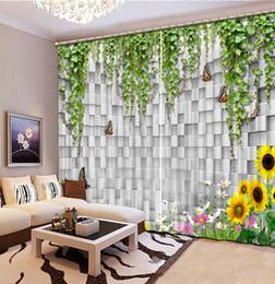 $enCountryForm.capitalKeyWord Australia - Sunflower and checkered decoration Nature Art Print Drapes Living room Bedroom Decor 2 Panels HooksWindow Curtain