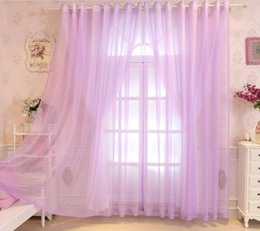 window double NZ - purple Double bedroom bedroom curtain finished princess style bay window balcony partition living room romantic warm window screening