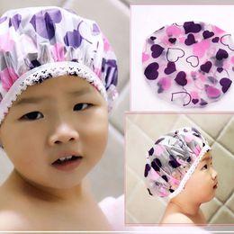 $enCountryForm.capitalKeyWord Australia - Adjustable Cartoon Baby Toddler Kids Shampoo Bath Shower Cap Wash Hair Shield Direct Caps For Children Baby Care For 1-5Year
