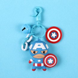 iron man keyring 2019 - 2019 The Hero Anime Keychain Iron Man 3D Double Side Silicone Keyring For Fans Gift discount iron man keyring
