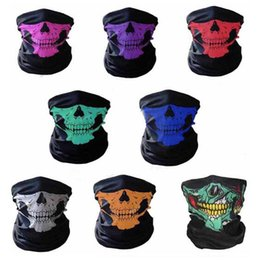 $enCountryForm.capitalKeyWord Australia - Motorcycle Skull Face Mask Ski Ghost Scarf Seamless Towel Cap Hat Visor multifunction Outdoor Sports Balaclavas Windproof