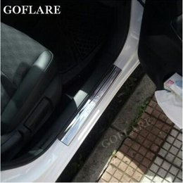 stainless car door sill Australia - auto door sill protector for Nissan Pulsar C13 door sills plate entry scuff plate Covers car styling stickers threshold stainless steel 304
