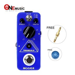 phase pedals Australia - MOOER Triangolo Digital Tremolo Pedal 3 selectable wave forms Tap tempo functionality Blue