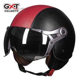$enCountryForm.capitalKeyWord Australia - GXT motorcycle helmet, autumn and winter male women's half - style and half - style stylish helmet electric car helmet