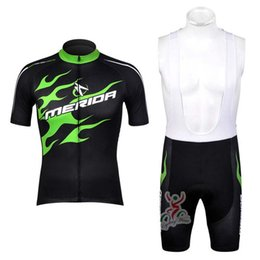 Chinese  NEW MERIDA team 2019 Cycling Cycling Short Sleeves jersey bib shorts sets Road Ride Bike Wear kit Cycling Clothing Sportswear 52720 manufacturers