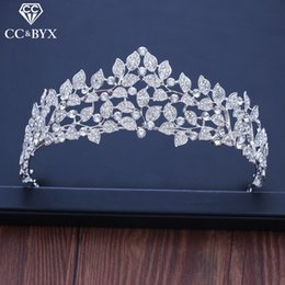 $enCountryForm.capitalKeyWord Australia - Cc Tiaras And Crowns Hairbands High Quality Princess Engagement Wedding Hair Accessories For Bridal Jewelry Luxury Leaf Xy215 Y19061503