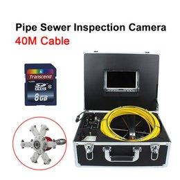 Vente en gros 40M de voiture moteur outil d'inspection de maintenance 7 pouces HD caméra endoscope industriel de tuyau-7D1-40M
