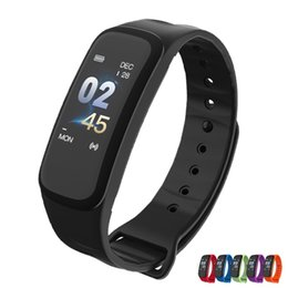 $enCountryForm.capitalKeyWord NZ - Newly C1Plus Smart Bracelet Color Screen Blood Pressure Fitness Tracker Heart Rate Monitor Smart Band Sport for Android IOS (Retail)