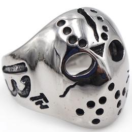 Nails Mask Australia - Retro Gothic Punk Men Rings Silver Stainless Steel Mask Skull Rings Knuckle Nail Finger Ring Demon Biker Jewelry