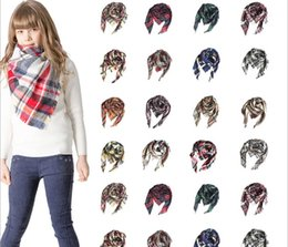 silver stole wrap Australia - New autumn and winter cashmere children's plaid square scarf f neck tonglu manufacturers 100x100x160cm