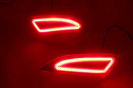 camry lights NZ - 2Pcs For Toyota Camry 2015 2016 LED Rear Bumper Light Rear Fog Lamp Brake Light Turn Signal Light Reflector