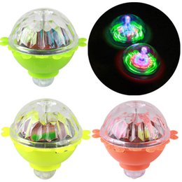 kids spinning toys Australia - Rotating flash gyro glow in the dark toy friction creative toy classic nostalgic light-up led lamp Colorful Spinning kids lumino