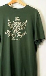 """22 Shirt Australia - Print OUTFITTERS MEN'S TEE OLIVE LARGE T-SHIRT 22""""PIT 28""""L PrintING TIGER"""