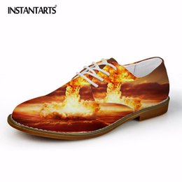 $enCountryForm.capitalKeyWord Australia - INSTANTARTS 3D Fashion Flame Printing Oxfords Shoes for Men Casual Flats Fashion Men's Leather Shoes Man Synthetic Dress