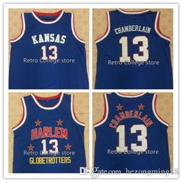 Black Basketball Jersey Number UK - Kansas Jayhawks 13 Wilt Chamberlain Too  Tall Hall Harlem Globetrotters 0399421fa