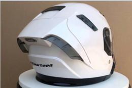 White Black Motorcycle Helmet Australia - NEW 2019 white black Motorcycle dual lens Half face MOTOR racing helmet