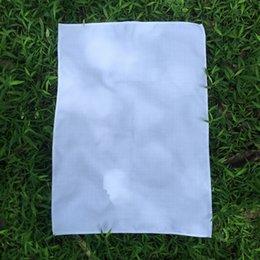Großhandel 100% Polyester Leinen Plain White Geschirrtuch Soft-Blank Küche Geschirrtuch 50x70 cm für Sublimation