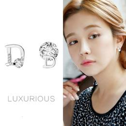 $enCountryForm.capitalKeyWord Australia - New 925 Steriling Silver Earrings Letter D Earrings With Zircon Dimaond Luxury Earrings Brand Designer Women's Fashion Gifts