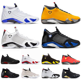 balls candy Canada - Jumpman 14s Hyper Royal Mens Basketball Shoes Sports Trainer 14 Ferrar SE Black SPM x White Candy Cane Basket Ball Sneaker Des Chaussures