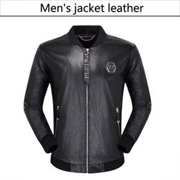 Venta al por mayor de NUEVA moda de cuero de los hombres de la motocicleta abrigos chaquetas utilizado abrigo de cuero chaqueta de cuero