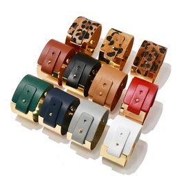 $enCountryForm.capitalKeyWord Australia - European and American punk PU LOVE Bracelet Leather Charm Wristband Bangle Cuffs Fashion Jewelry for Women Boho Multilayer Wide Bracelet
