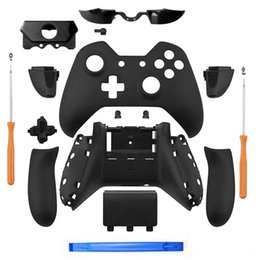 wireless controller shells Australia - Matte Black Game Controllers & Joysticks Game Accessories Controller Housing Shell Full Set Faceplates Buttons for Xbox One Controller with