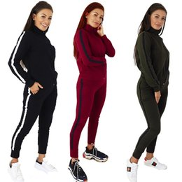Hottest yoga pants online shopping - Womens jacket legging outfits piece set outerwear tights sports suit long sleeve cardigan pants tracksuit hot klw2683