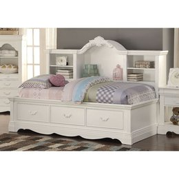 Discount adult princess bedding - Bulkea Estrella Daybed Twin Size Vintage Style Pure White Princess Bed For Children Adults 39150 Furniture