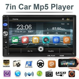 "stereo media player UK - 10Pcs Lot 7038B 2din Car Radio 7"" Bluetooth Car Stereo Radio Audio Media Car Multimedia MP5 Player with Android Mirror Link"