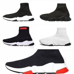 Great Shoe Australia - 2019 New Designer Sock Shoes Oreo Black White Men Running Shoes New Gypsophila Cheap Women Boots Sneakers Great Quality Size 36-45