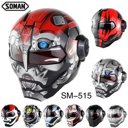 $enCountryForm.capitalKeyWord NZ - Cool Motorcycle Helmet Super Personalized Iron Man Full Helmet Vintage Open Face Design Adult Riding