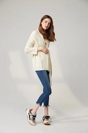 $enCountryForm.capitalKeyWord Australia - Woman Autumn Woollen Alpaca Wool White High Waisted Lace With Twist Pattern Knitted Sweater Cardigan Y190822