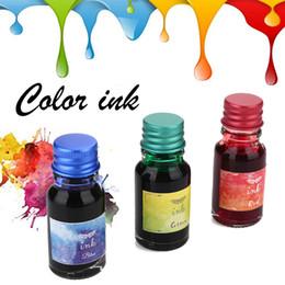 mini pen refills 2019 - Colored Ink Painting Ink Non-Carbon Creative Mini 10ml Multicolor Stationery Pen 3 Colors Optional cheap mini pen refill