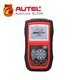 Tester Electrical Tool Australia - Autel AutoLink AL539 OBD2 Scanner Electrical Tester AVO Meter Automotive Tool Full OBDII Function Diagnostic Tool Battery Tester