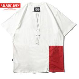 $enCountryForm.capitalKeyWord Australia - Aelfric Eden Summer Short Sleeve Summer T-shirts Men Women 2019 Hip Hop Tshirt Pockets Tops Tees Color Patchwork Swag Streetwear