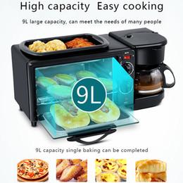 venda por atacado 3 Em 1 Máquina De Pequeno-Almoço Electrica Para Uso Doméstico Máquina Multifunções De Gotejamento Máquina De Café Frigideira Frigideira Frigideira Frigideira Pan Mini Pão Para Uso Doméstico