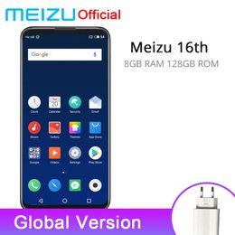 Официальный Meizu 16-й 16-й 8 ГБ оперативной памяти 128 ГБ ROM глобальная версия мобильного телефона Snapdragon 845 Octa Core 6.0